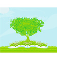 Book with tree on natural background vector image