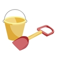 Bucket and shovel toys icon cartoon style vector image vector image
