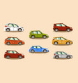 car set vehicle hatchback the image of toy vector image