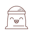 cartoon sack flour bakery image vector image