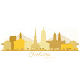 charleston south carolina city skyline golden vector image vector image