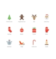 Christmas and New Year color icons on white vector image vector image