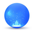 christmas ball element of festive decorations vector image