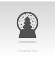 Christmas snow globe with a tree inside vector image