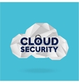 cloud security design vector image vector image