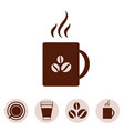 coffee cup icon collection vector image vector image