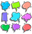collection of text balloon colorful set vector image