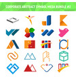 corporate abstract symbol mega bundle pack design vector image vector image
