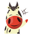 cow is waving on white background vector image vector image