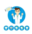 Dentist with tooth vector image vector image