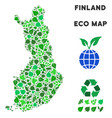 eco green collage finland map vector image vector image