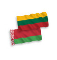 flags lithuania and belarus on a white