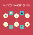flat icons net income moneybox pie bar and other vector image vector image