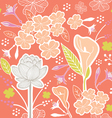 flower pattern set 1D vector image vector image