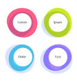four circles frames in different colors set vector image vector image