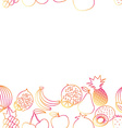 Fruit seamless border pattern The image of fruits vector image vector image