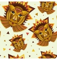 Geometric face of lion builded from circles vector image vector image