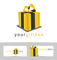 Gift box or present logo template vector image