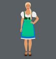 girl in traditional bavarian folk costume dirndl vector image