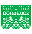 good luck paper greeting card design vector image