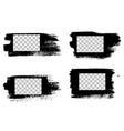 grunge stencil frames painted frame ink splatter vector image vector image