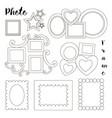 hand drawn photoframes vector image