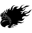 hand grenade icons grenade silhouette vector image