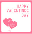 happy valentines day card - creative design vector image vector image