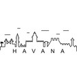 havana outline icon can be used for web logo vector image