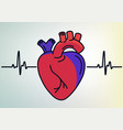 human heart organ outline icon linear style sign vector image vector image
