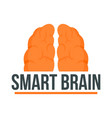 human smart brain logo flat style vector image