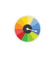 icon speedometer or speed dial power indicator vector image