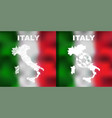 italian abstract maps set with flag and ball vector image