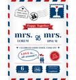 Lesbian Wedding Invitation vector image vector image