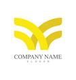 letter w ribbon company logo vector image vector image