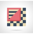 Linoleum levels flat color icon vector image vector image