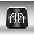Lungs icon isolated on white background art vector image vector image