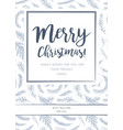 merry christmas greeting card postcard design vector image vector image