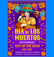 mexican dia des los muertos party frida woman vector image