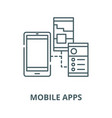 mobile apps line icon linear concept vector image vector image