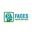 natural facial health modern logo vector image vector image