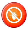 No bug sign icon flat style vector image vector image