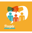 people speech vector image vector image