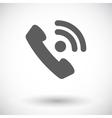 Phone single flat icon vector image