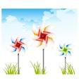 pinwheel on sky vector image vector image