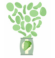 Potato chips taste like lettuce Packaging bag of vector image
