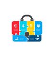 puzzle briefcase infographics businecc vector image