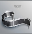 realistic 3d film strip background vector image vector image