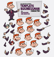 red hair businessman face and body elements parts vector image vector image