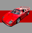 red supercar vector image vector image